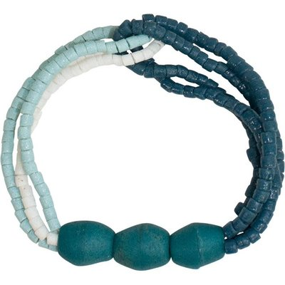 Global Mamas Felicia Teal Recycled Glass Bracelet
