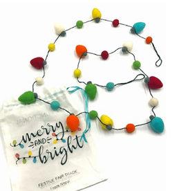 Ganesh Himal Felt Christmas Lights Garland with Bag