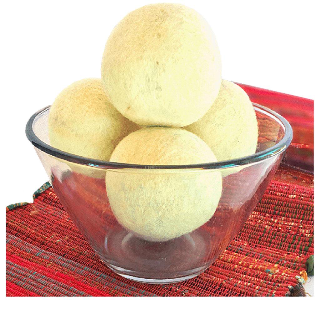 Ganesh Himal Felt Dryer Balls - Set of 2 with Recycled Sari Bag