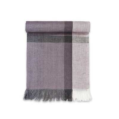 Sustainable Threads Fig Handwoven Linen Scarf