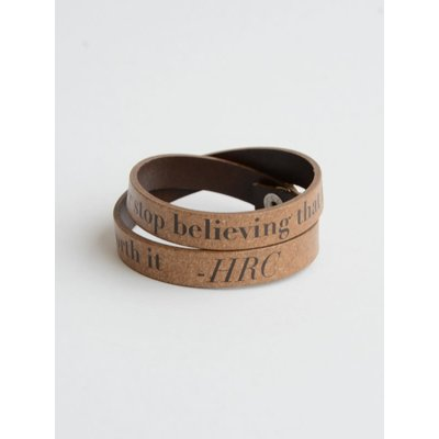 Fair Anita Fight for What's Right Leather Wrap Bracelet