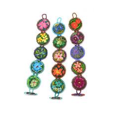 Dunitz & Co Five Rondelle Embroidered Bracelet