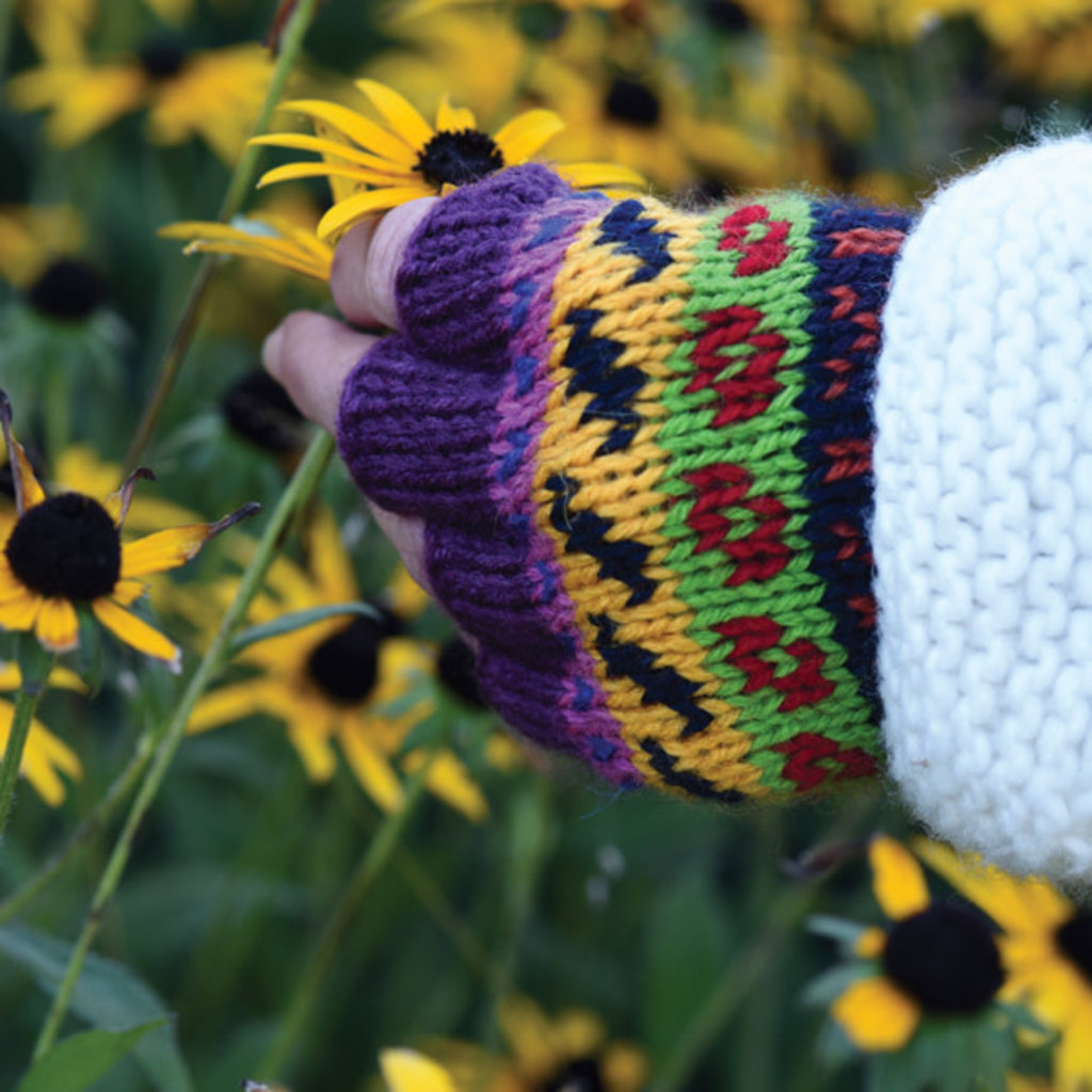 Minga Imports Fleur Alpaca Blend Fingerless Gloves