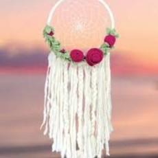 DZI Handmade Floral Romance Dream Catcher