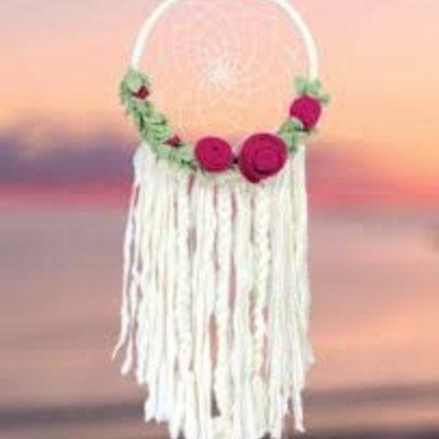 DZI Handmade Floral Romance Dreamcatcher