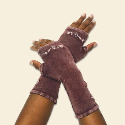 Maggie's Organics Flourish Arm Warmers Black