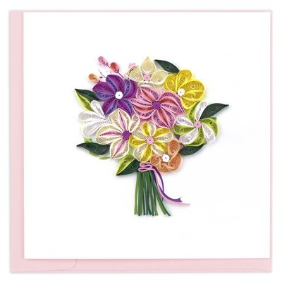 Quilling Card Flower Bouquet Quilled Card