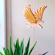 Tulia's Artisan Gallery Flying Pig Mobile