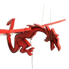 Tulia's Artisan Gallery Flying Mobile: Red Welsh Dragon