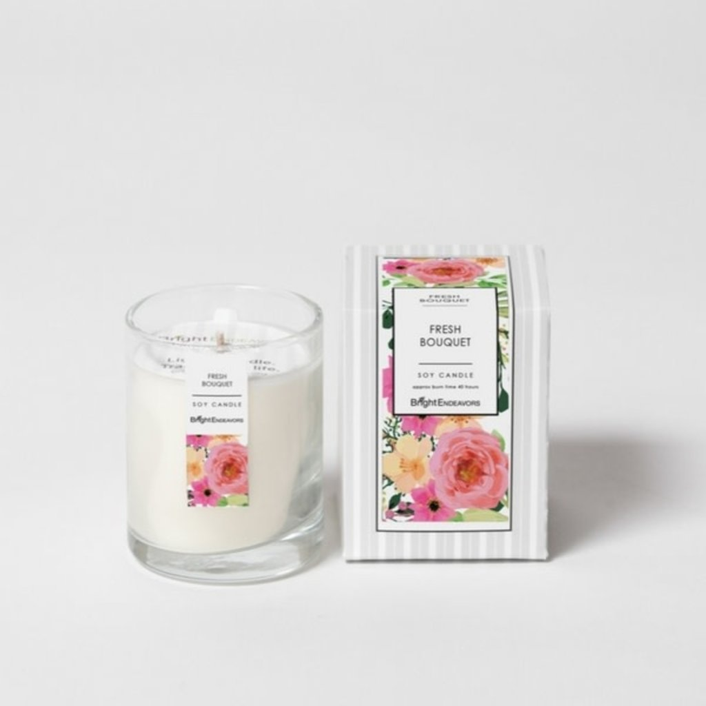Bright Endeavors Fresh Bouquet Candle 3 oz Glass