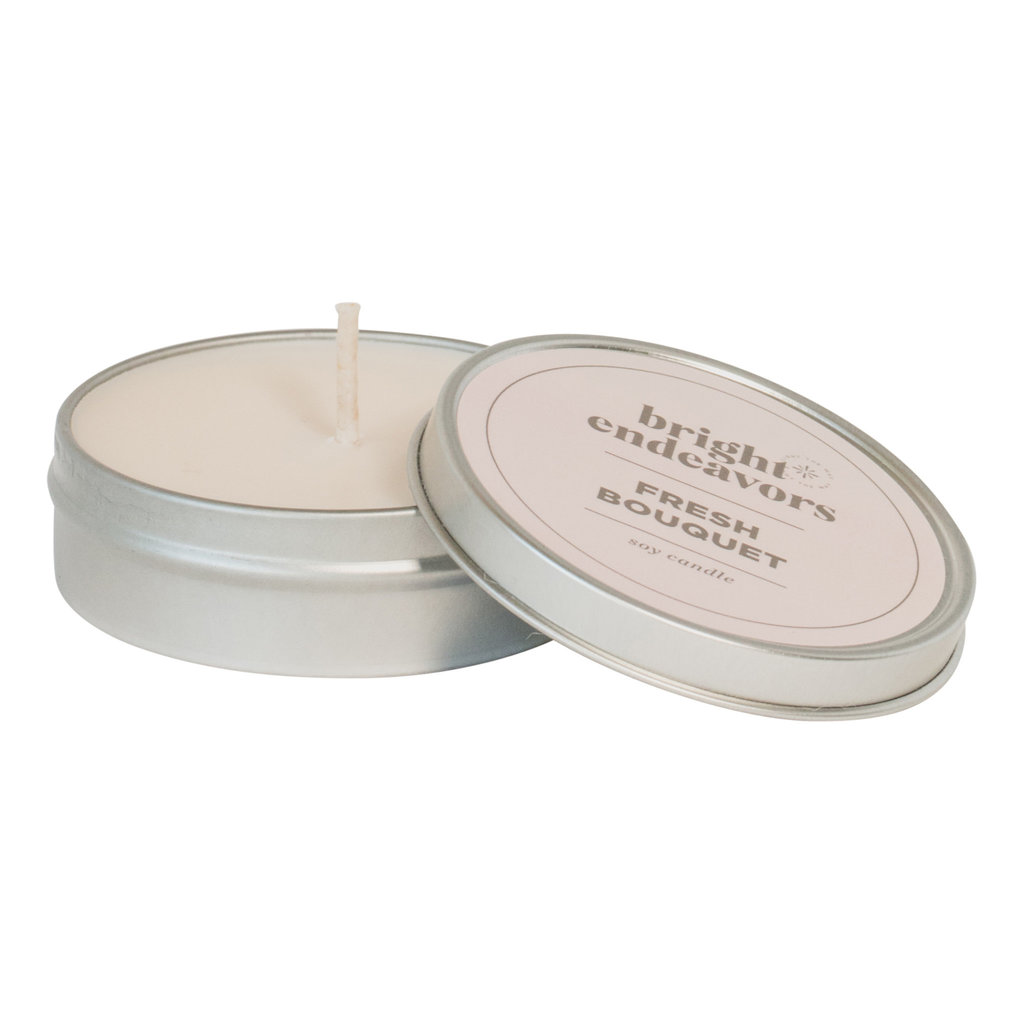 Bright Endeavors Fresh Bouquet Candle 4 Ounce Tin