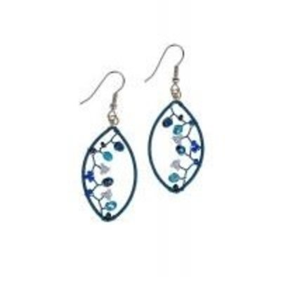 Ten Thousand Villages Frost Beaded Earrings