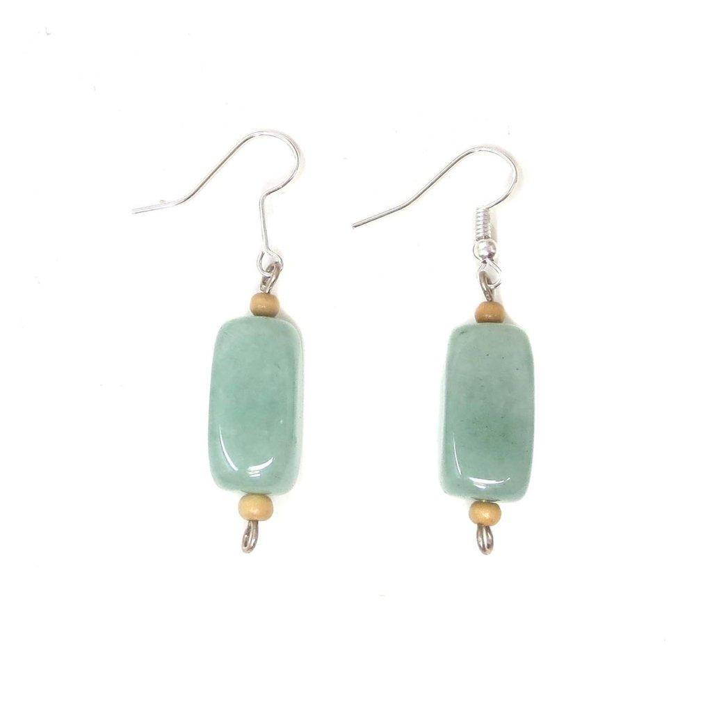 Unique Batik Gemstone Earrings