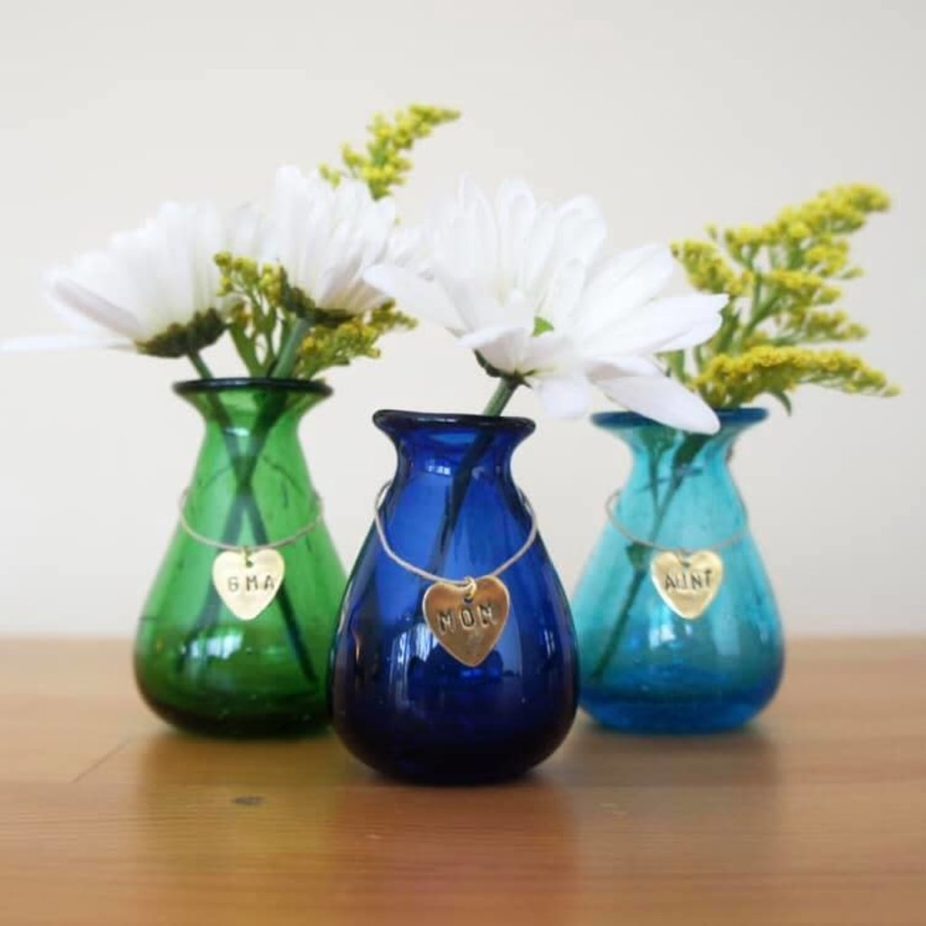 Venture Imports Glass Mommy Bud Vases