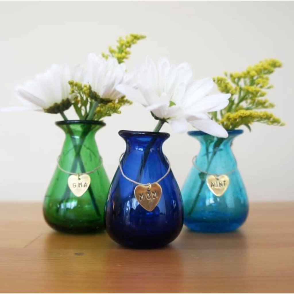 Venture Imports Glass Mommy Bud Vases