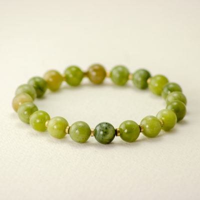 DZI Handmade Green Jasper Stone Bracelet
