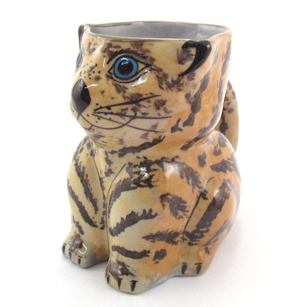 Lucia's Imports Guatemalan Pottery Cat Mug