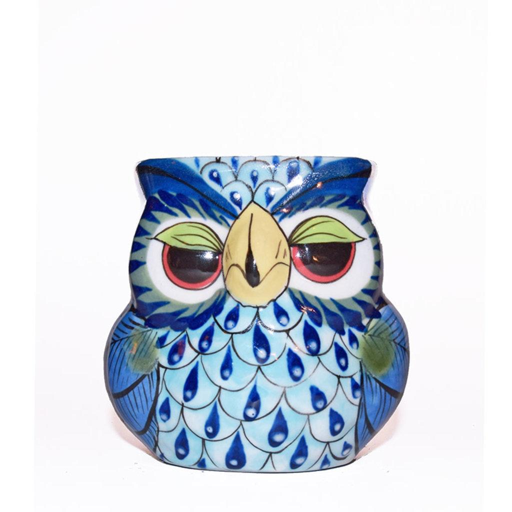 Lucia's Imports Guatemalan Pottery Owl Mug