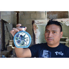 Lucia's Imports Guatemalan Pottery Peacock Mug