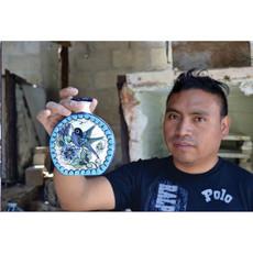 Lucia's Imports Guatemalan Pottery Sugar Skull Mug