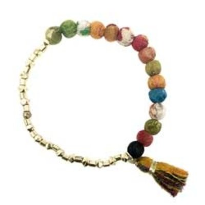 World Finds Halved Kantha Bracelet