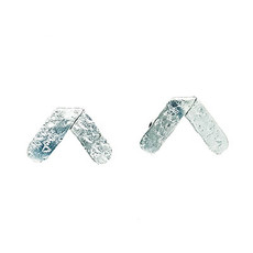 World Finds Hammered Axis Earrings