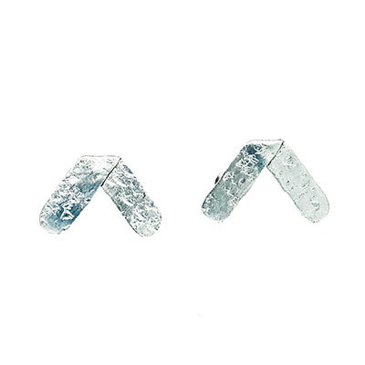World Finds Hammered Axis Earrings Silver