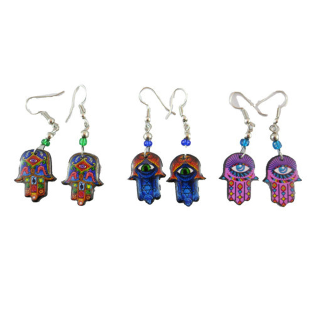 Inter-American Trading Hamsa Hand Earrings
