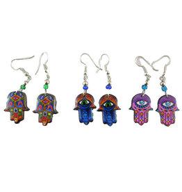 Inter-American Trading Hamsa Hand Earrings