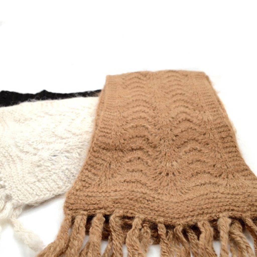 Minga Imports Hayseed Handknit Alpaca Scarf