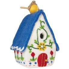 DZI Handmade Heidi Swiss Chalet Wool Felt Birdhouse