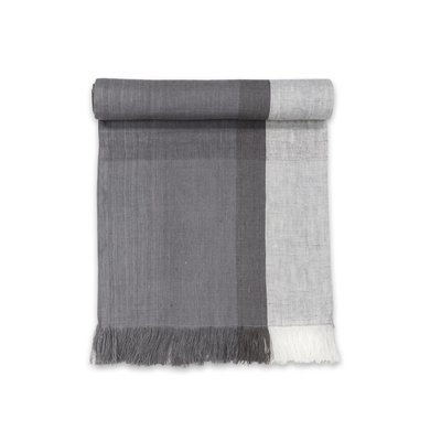 Sustainable Threads High Tea Handwoven Linen Scarf/Runner