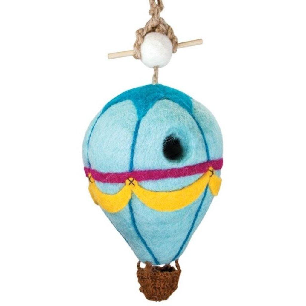 DZI Handmade Hot Air Balloon Wool Felt Birdhouse