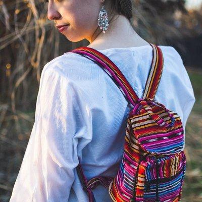 Lucia's Imports Ikat Mini-Backpack