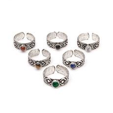 Matr Boomie India Gemstone Toe Ring