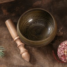 Ten Thousand Villages Inscribed Singing Bowl