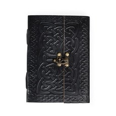 Ten Thousand Villages Intertwining Ideas Celtic Knotwork Leather Journal