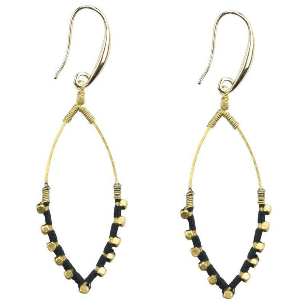Marquet Fair Trade Jane Black Akha Earrings