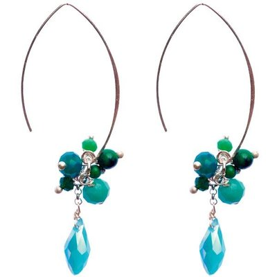 Marquet Fair Trade Jen Open Horizon Akha Earrings