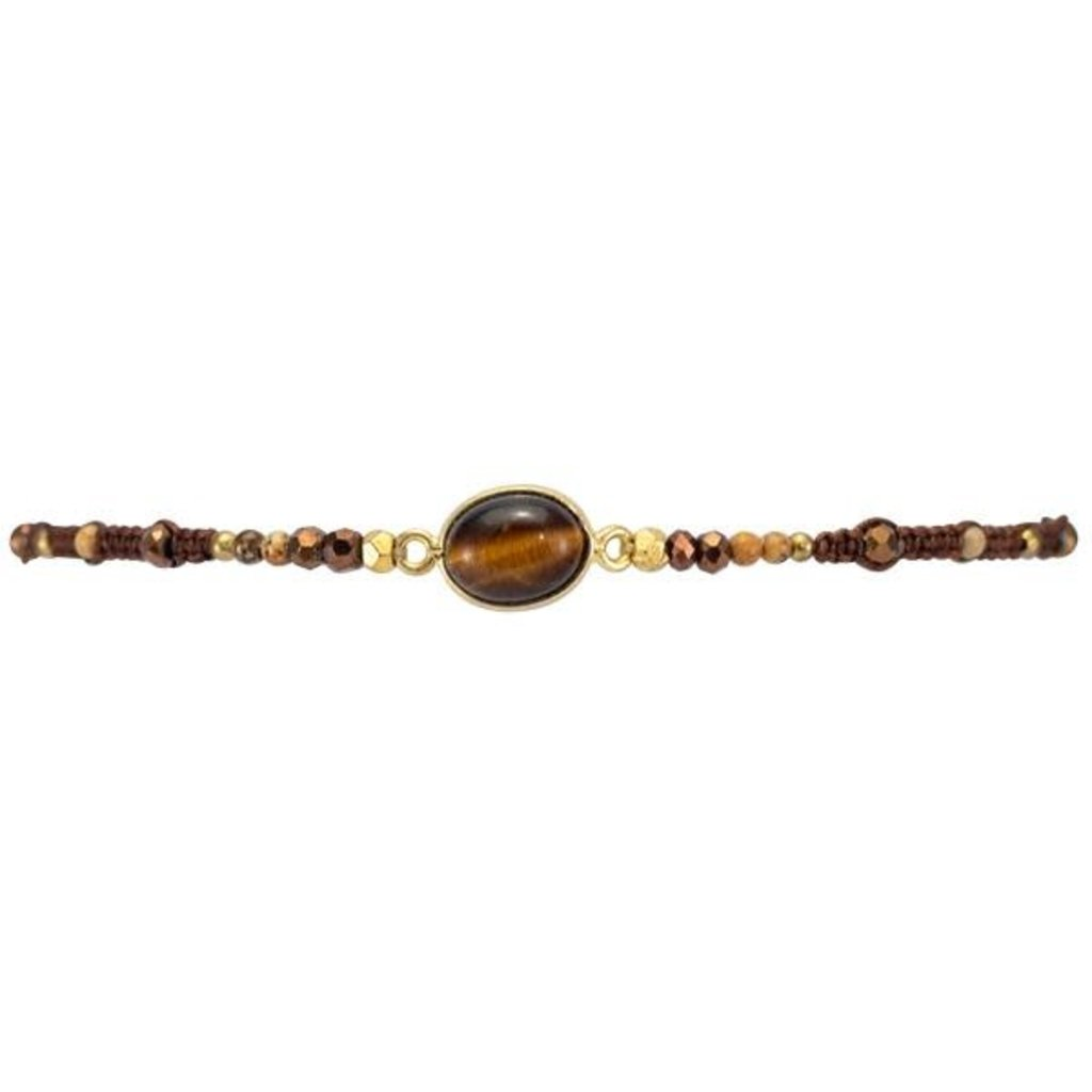 Marquet Fair Trade Jess Dark Chocolate Akha Sliding Knot Bracelet