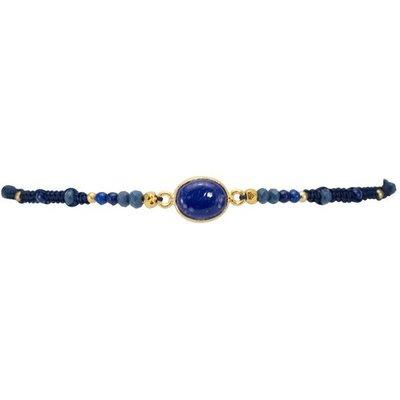 Marquet Fair Trade Jess Deep Blue Akha Sliding Knot Bracelet