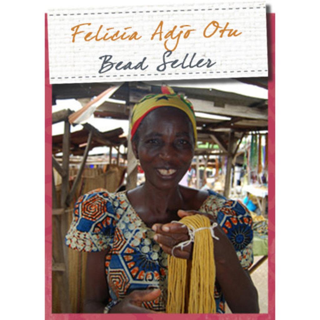 Global Mamas Kalahari Recycled Glass Bracelet - Neutrals