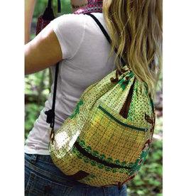 Minga Imports Kantha Drawstring Bag