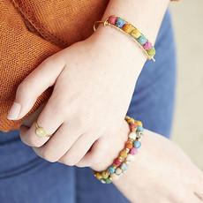 World Finds Kantha Gold Bangle Bracelet