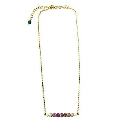 World Finds Kantha Horizontal Bar Necklace