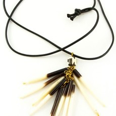 Swahili Imports Kenyan Porcupine Quill Necklace