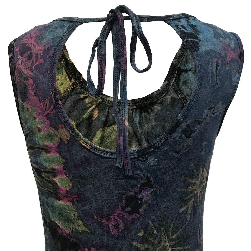 Unique Batik Keyhole Thai Dye Dress
