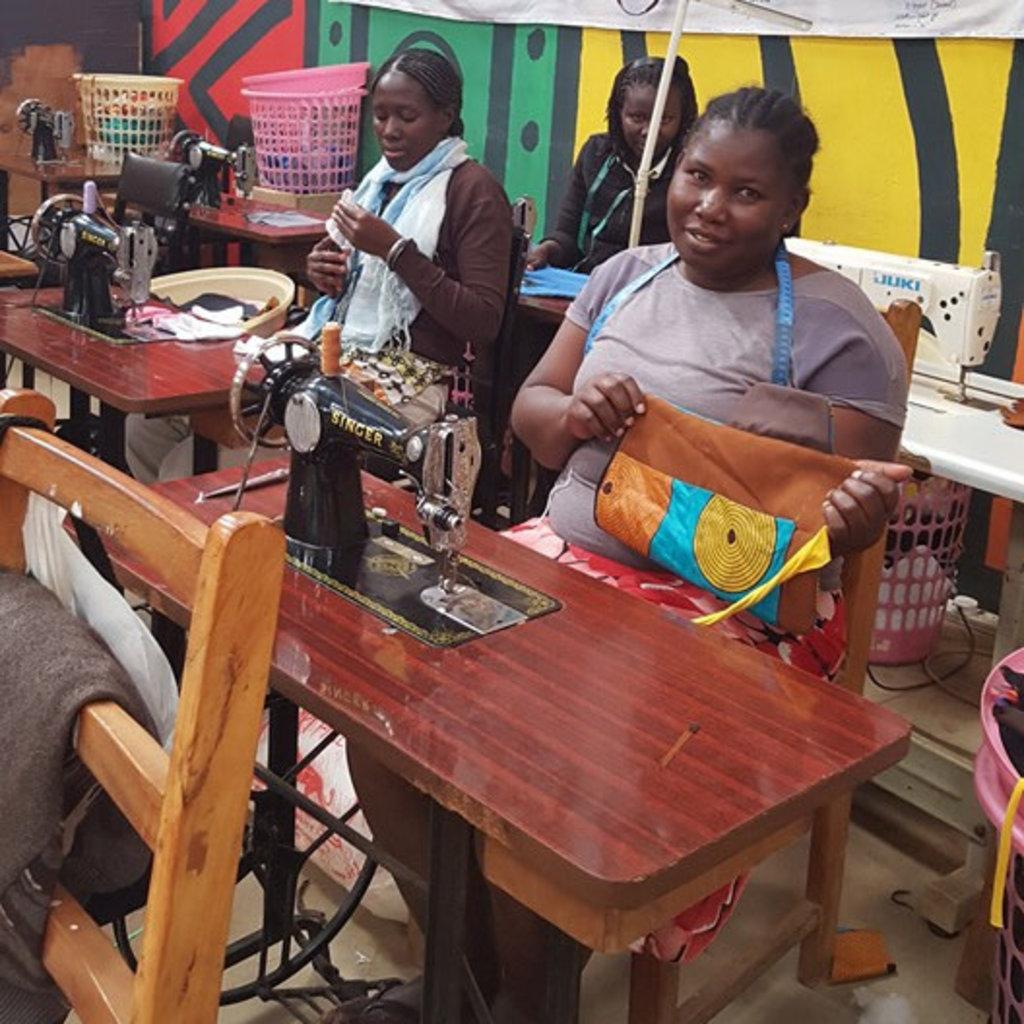 Imani Workshops Kikoy Scarf with Beaded Fringe