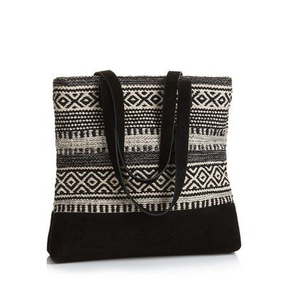 Serrv Kilim Black and White Tote