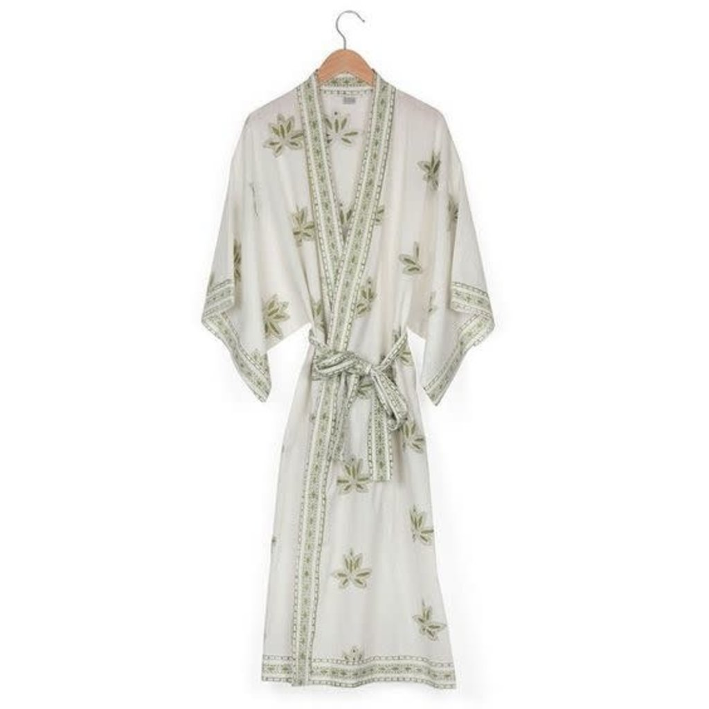Ten Thousand Villages Kimono Lotus Robe